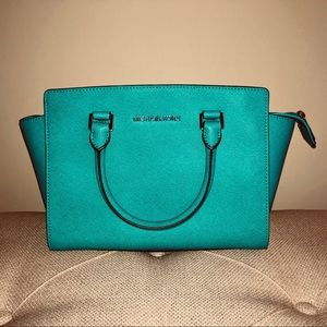 Michael Kors, Tile Blue, Selma Medium Satchel